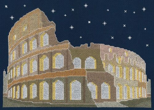 ROME BY NIGHT COUNTED CROSS STITCH KIT