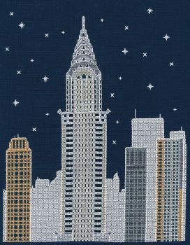 NEW YORK BY NIGHT COUNTED CROSS STITCH KIT