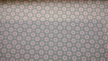 GREY AND WHITE  FLOWERED  FLOWERED 100% COTTON
