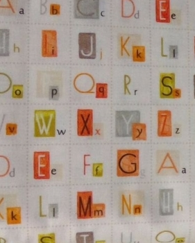 CHILDRENS ALPHABET FABRIC