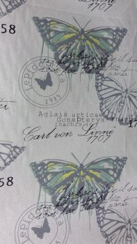 BUTTERFLY LINEN STYLE CANVAS