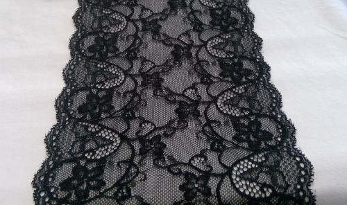 BLACK STRETCH LACE