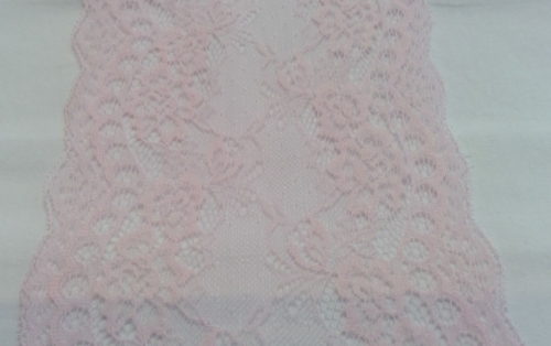 PALE PINK STRETCH LACE