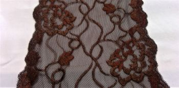 BROWN STRETCH LACE