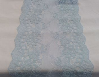 PALE BLUE STRETCH LACE