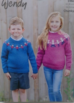 SWEATER WITH PATTERNED FIGURES  WENDY 5960