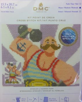 DMC CIRCUS 'STRONGMAN STANLEY' CROSS STITCH KIT