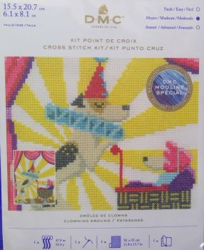 DMC CIRCUS 'CLOWNING AROUND' CROSS STITCH KIT