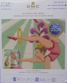 DMC CIRCUS 'ACROBAT ALICE' CROSS STITCH KIT