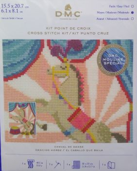 DMC CIRCUS 'DANCING HORSE' CROSS STITCH KIT