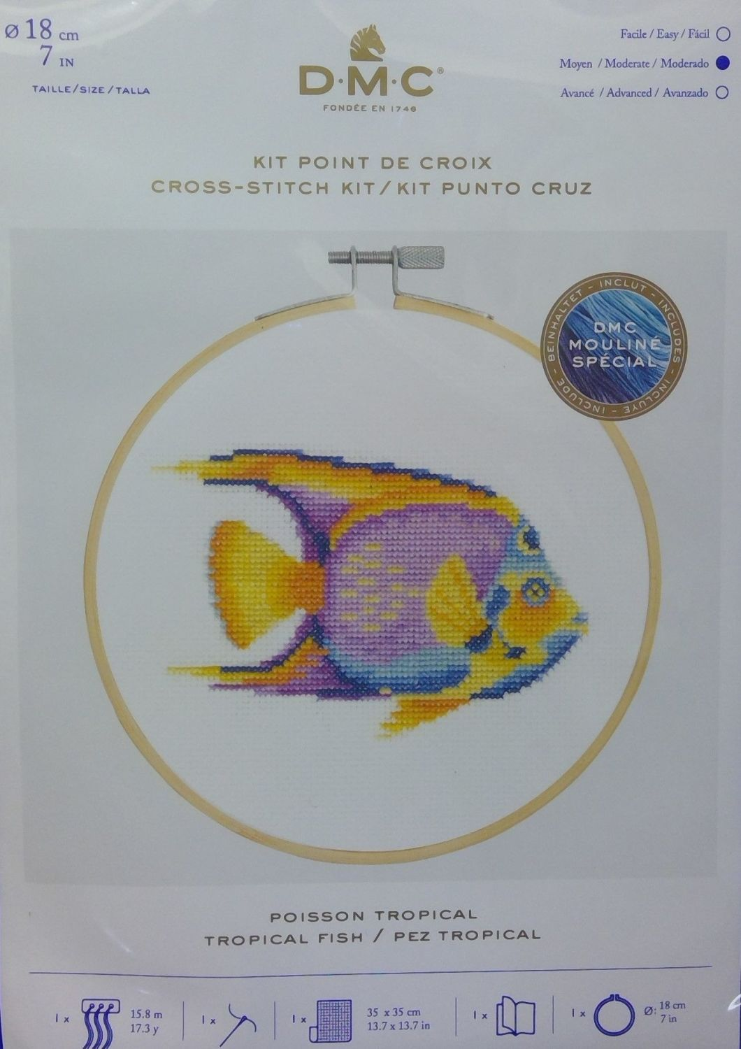 DMC 'TROPICAL FISH' CROSS STITCH KIT