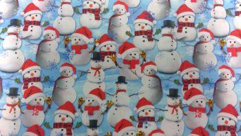 'SNOWMAN' CHRISTMAS FABRIC