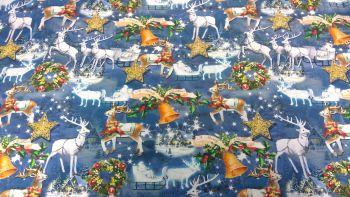 'CHRISTMAS REINDEER' CHRISTMAS FABRIC