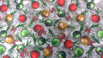 'BAUBLES' CHRISTMAS FABRIC