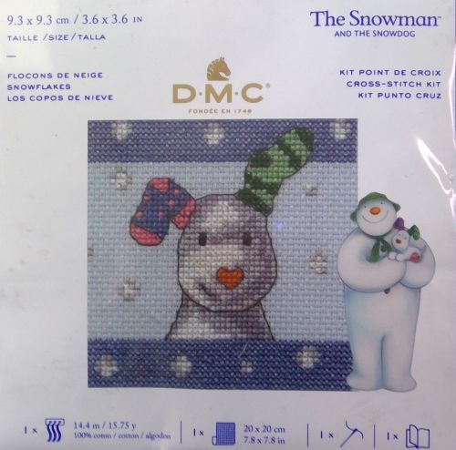 THE SNOWMAN AND THE SNOWDOG 'SNOWFLAKES' MINI CROSS STITCH KIT