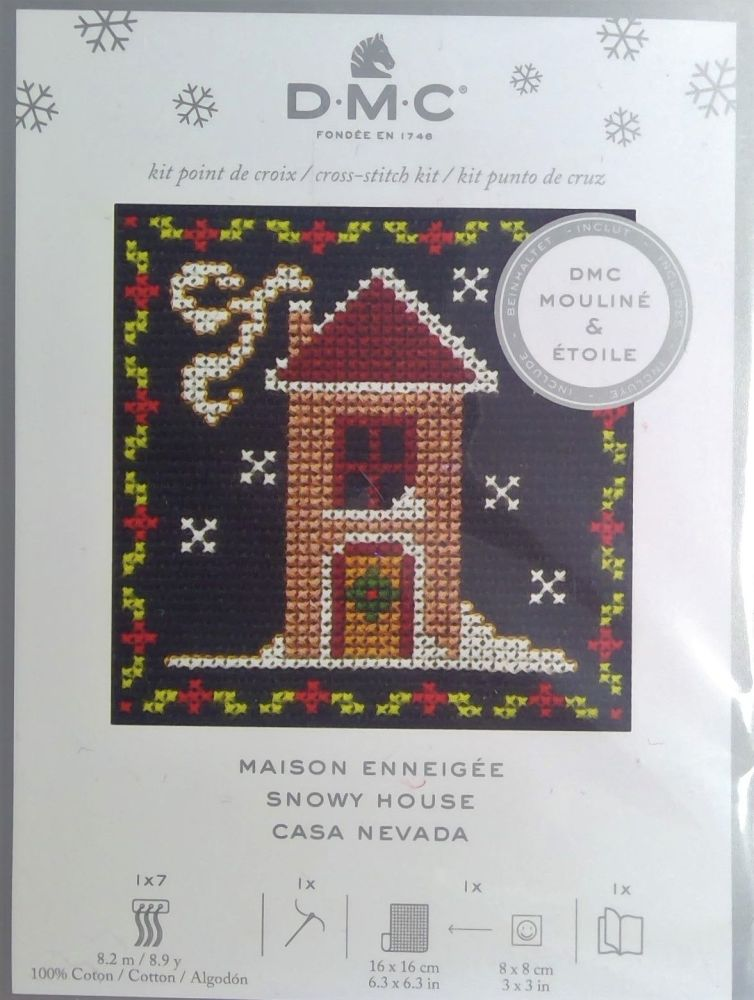 DMC FESTIVE MINI KITS 'SNOWY HOUSE'