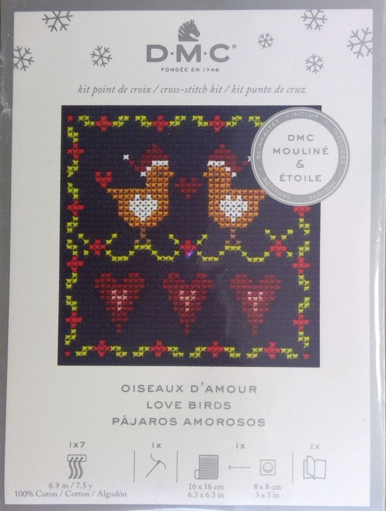 DMC FESTIVE MINI KITS 'LOVE BIRDS'