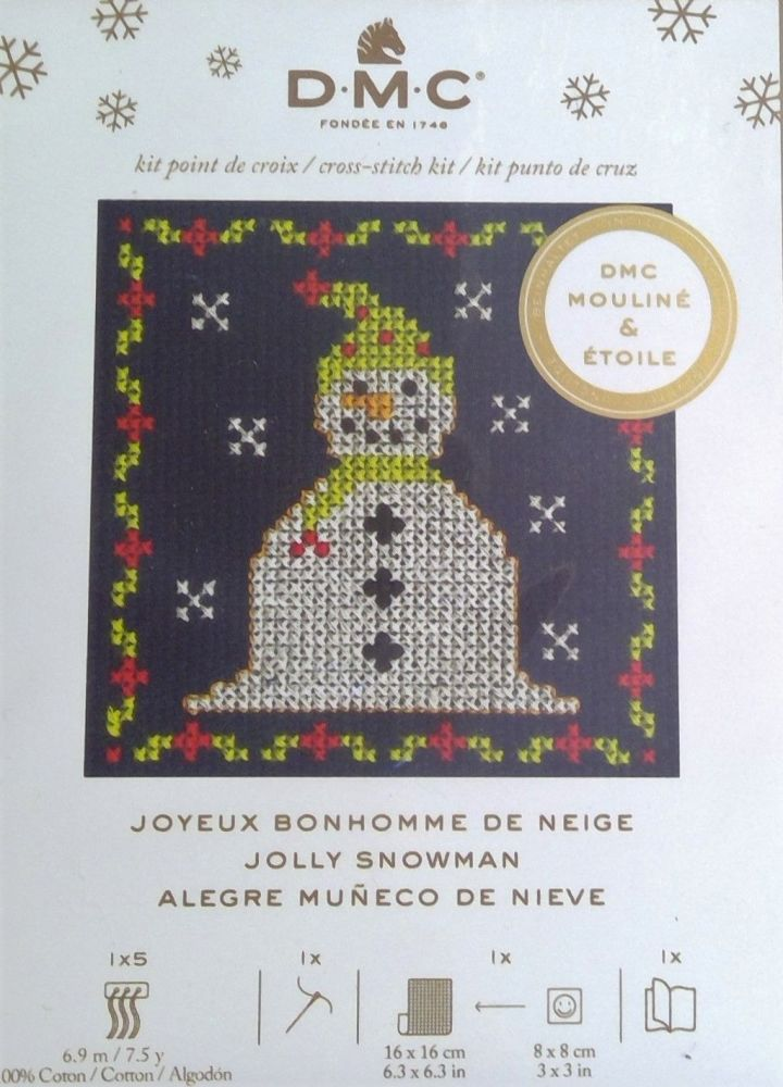 DMC FESTIVE MINI KIT 'JOLLY SNOWMAN'