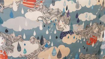 KATIA TEAL GREEN WOMAN RAIN WATERPROOF FABRIC
