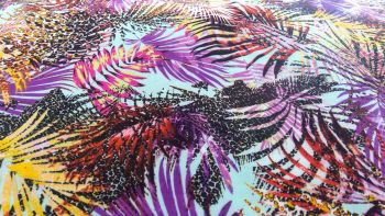 BRIGHT TROPICAL FERN PRINT VISCOSE