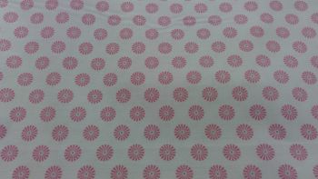 Gutermann Ring A Roses Summer Loft cream and pink flower 100% cotton range