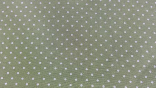 OLIVE GREEN AND WHITE SPOT 100% COTTON