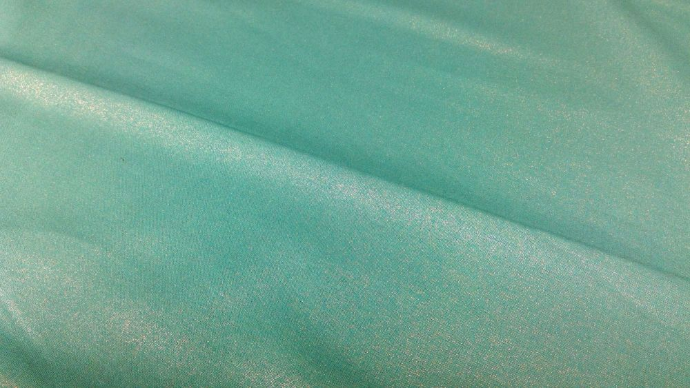 JADE GREEN  COTTON WITH A SILVER METALLIC FINISH