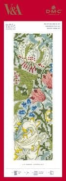 V&A CROSS STITCH BOOKMARK -'GOLDEN LILY'