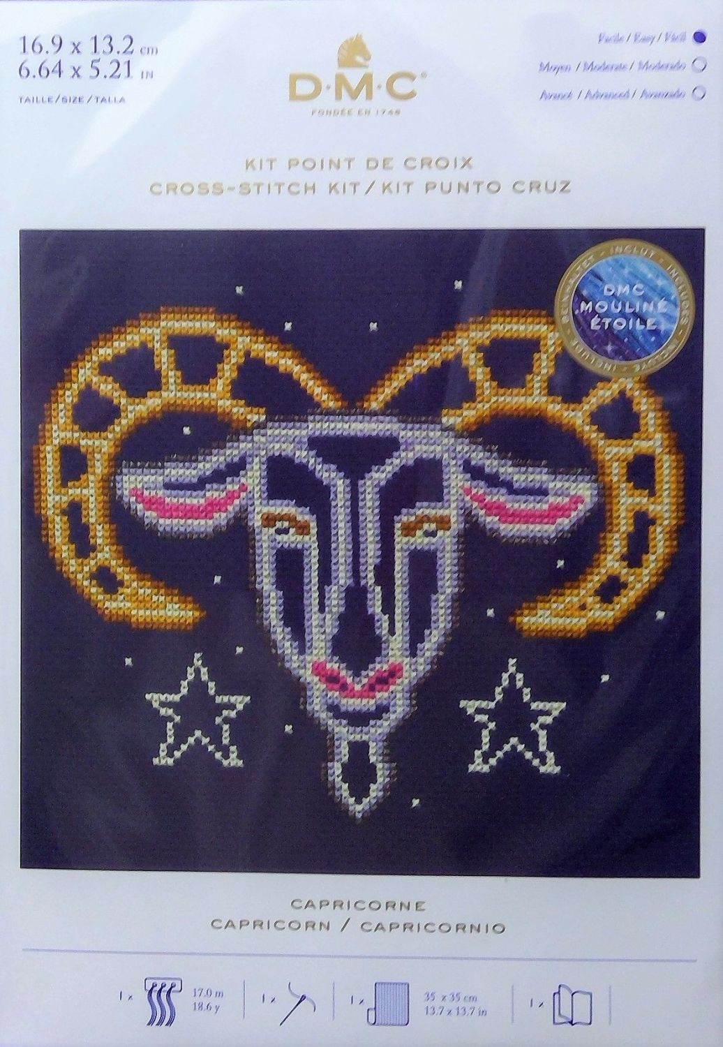 DMC ZODIAC CROSS STITCH KIT-'CAPRICORN'