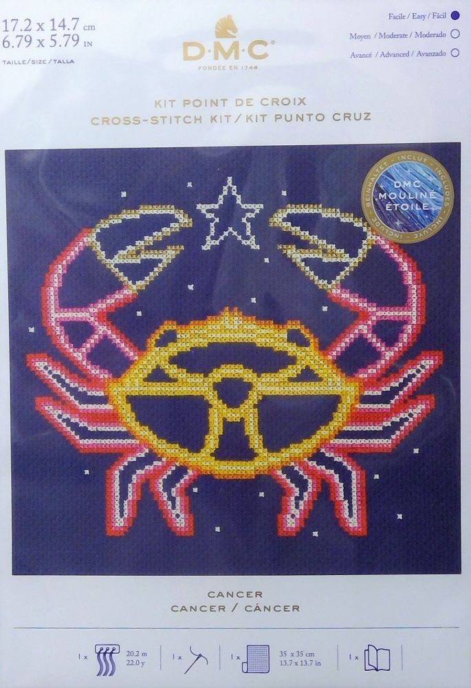 DMC ZODIAC CROSS STITCH KIT-'CANCER'
