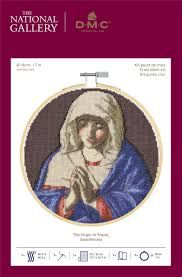 DMC and THE NATIONAL GALLERY CROSS STITCH KIT 'The Virgin in Prayer'