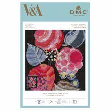 V&A DMC CROSS STITCH -DECO ROSE MOTIF