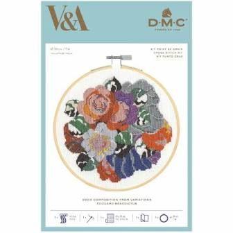 V&A DMC CROSS STITCH -DECO COMPOSITION