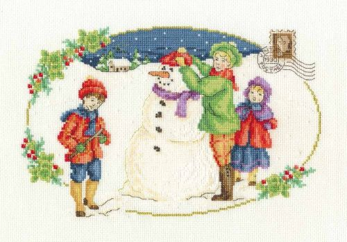 DMC MARIA DIAZ COLLECTION- 'BUILDING A SNOWMAN'