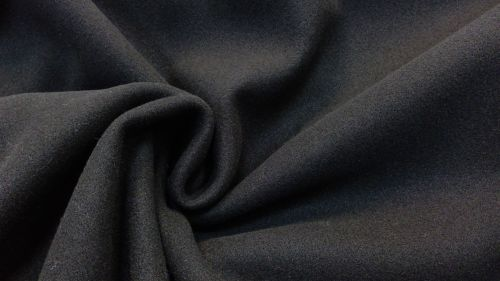 BLACK SOFT COAT FABRIC