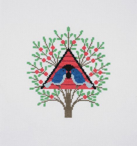 DMC CROSS-STITCH WITH PERLE COTTONS -'BIRDHOUSE'