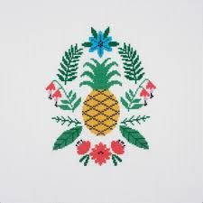 DMC CROSS-STITCH WITH PERLE COTTONS -'PINEAPPLE'