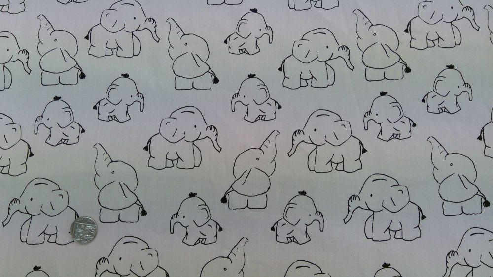 COTTON POPLIN BABY ELEPHANTS