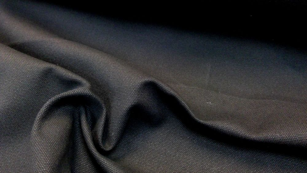 BLACK 100% COTTON HEAVY CANVAS
