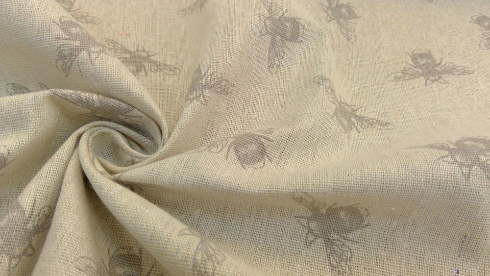 TAUPE BEE NATURAL LINEN STYLE CANVAS