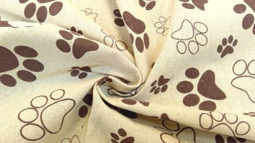 BROWN PAW LINEN STYLE CANVAS