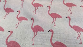 FLAMINGO LINEN STYLE CANVAS