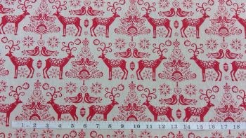 NORDIC STYLE CHRISTMAS LINEN STYLE CANVAS