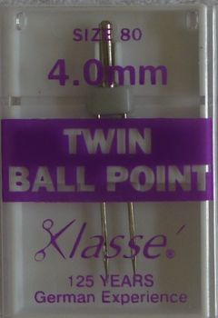 TWIN BALL POINT  MACHINE NEEDLES  80/12  4.0MM