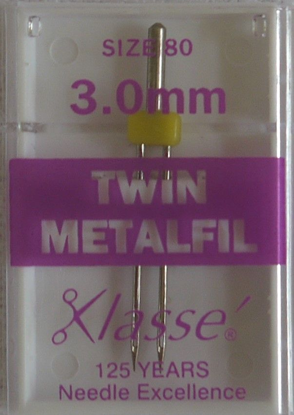 TWIN METAFIL MACHINE NEEDLES  80/12  3.0 MM