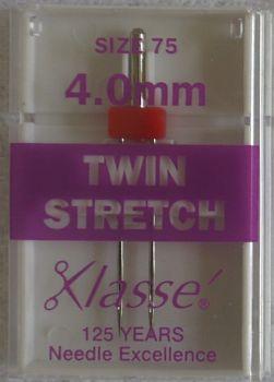 TWIN STRETCH  MACHINE NEEDLES  75/11  4.0MM