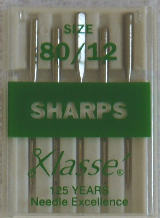 SHARPS MACHINE NEEDLES 80/12