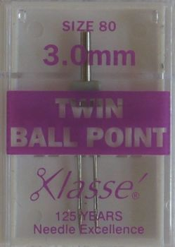 TWIN BALL POINT  MACHINE NEEDLES  80/12  3.0 MM