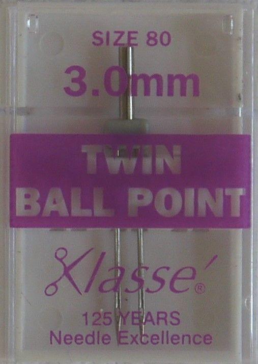 TWIN BALL POINT  MACHINE NEEDLES  80/12  3.0 MM