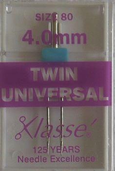 TWIN UNIVERSAL MACHINE NEEDLES  80/12 4.0 MM